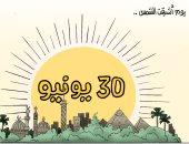 يوم أشرقت الشمس.. ذكرى ثورة 30 يونيو في كاريكاتير اليوم السابع