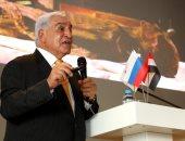 زاهى حواس يستعرض إنجازات الرئيس من أجل الحفاظ على آثار مصر فى محاضرة بموسكو