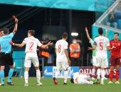 """يورو 2020.. سويسرا تكمل لقاء إسبانيا بـ10 لاعبين بعد طرد فريلير """"فيديو"""""""