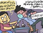 """طالب صنايع يمتحن بدلا من صديقه بـ""""أداب المنصورة"""" فى كاريكاتير """"اليوم السابع"""""""