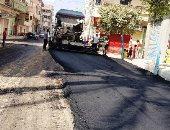 محافظة الجيزة ترصف شوارع ببولاق والعمرانية والعجوزة والهرم والحوامدية
