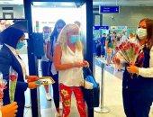 مطار الغردقة يستقبل رحلة سياحية جديدة من ألمانيا تقل 146 راكبا.. صور
