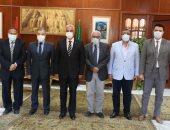 جامعة المنوفية تستقبل وزير التعليم السابق على رأس لجنة من قطاع الحاسبات والمعلومات