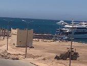 تطوير أكبر شواطئ الغردقة لاستقبال السياح والزائرين.. فيديو وصور