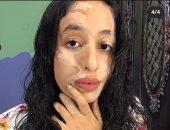 """""""نور"""" تشارك """"اليوم السابع"""" موهبتها فى فن الماكياج السينمائى"""