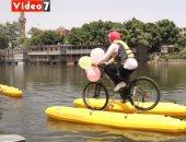 شاهد.. العجلة اللى بتمشى على المياه.. تجربة غير مسبوقة من المتعة والمغامرة
