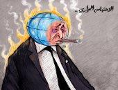 كاريكاتير اليوم.. الاحتباس الحرارى يُشعل العالم بموجات من الحر الشديد