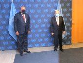 سامح شكرى يؤكد لـ جويتريش ضرورة دعم الأطراف الدولية لاتفاق ملزم حول سد النهضة
