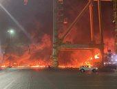 قائد شرطة دبى يوضح سبب حريق حاوية ميناء جبل علي.. ويؤكد: لا توجد مواد مشعة