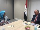 وزير الخارجية يجتمع مع نظيرته السودانية للتحضير لجلسة سد النهضة بمجلس الأمن