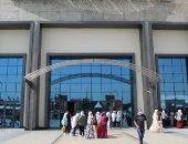 توافد الجمهور على أبواب معرض القاهرة الدولى للكتاب فى يومه الثامن