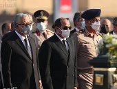 أخبار مصر.. الرئيس السيسى يتقدم الجنازة العسكرية للسيدة جيهان السادات