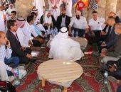 محافظ جنوب سيناء يلبى دعوة حضور زفاف بدوى بتجمع وادى مجيرح بمدينة دهب