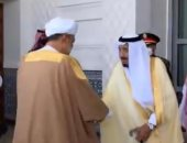 سلطان عمان يصل السعودية فى أول زيارة خارجية والملك سلمان يستقبله بقصر نيوم