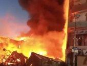 الحماية المدنية تسيطر على حريق شقة سكنية فى المنيب دون إصابات