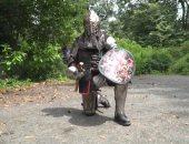 """مباريات مصارعة من العصور الوسطى فى ساحة """"سنترال بارك"""" الأمريكية.. صور"""