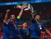 """مشوار إيطاليا نحو التتويج بلقب يورو 2020.. 13 هدفا × 7 مباريات """"فيديو"""""""