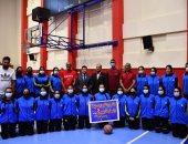 وزير الشباب يشهد اللقاء التنافسي للاعبى مشروع البطل الأولمبى فى كره السلة