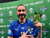 إيطاليا ضد إنجلترا.. بونوتشي أفضل لاعب في نهائي يورو 2020