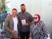 """حازم إمام فى معرض القاهرة للكتاب لتوقيع كتاب """"إمبراطورية إمام"""".. فيديو"""