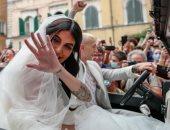 بيرنارديسكى نجم يوفنتوس يتزوج بعد يومين من التتويج بــ يورو 2020.. فيديو وصور