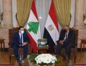 """""""شكرى"""" يؤكد دعم مصر للبنان ويدعو لضرورة تغليب الأطراف اللبنانية للمصلحة العليا"""