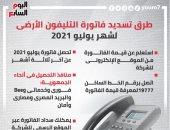طرق تسديد فاتورة التليفون الأرضى لشهر يوليو 2021.. إنفوجراف
