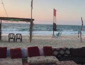 شاطىء بورسعيد: رفع الرايات السوداء وحظر نزول البحر اليوم وغدا لسوء الطقس