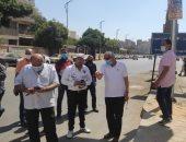 محافظ الجيزة يتفقد الساحات والطريق أسفل محور الفريق كمال عامر بالعمرانية