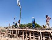 استمرار أعمال توسعة ورفع كفاءة مدخل برج العرب الجديدة خلال أيام العيد