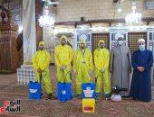 حملات تعقيم للمساجد الكبرى بالقاهرة قبل ساعات من صلاة عيد الأضحى..فيديو وصور