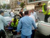 تحرير 15محضر عدم ارتداء كمامة وضبط 14سيارة ودارجه نارية مخالفة بالدقي.. صور