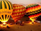 """""""البالون الطائر"""" رحلة ساحرة فى سماء الأقصر خلال احتفالات عيد الأضحى.. ألبوم"""