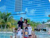 ليونيل ميسي يواصل الاحتفال ببطولة كوبا أمريكا مع زوجته وأطفاله.. صور