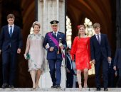 وريثة العرش البلجيكية الأميرة إليزابيث أنيقة فى إطلالة باللون الأحمر.. صور