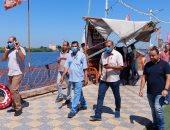 إقبال كبير على حدائق دسوق بكفر الشيخ والاستمتاع بالرحلات النيلية.. صور