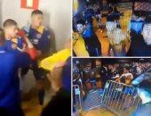 """كأس ليبرتادوريس.. خناقة شوارع بين لاعبي بوكا جونيورز والشرطة البرازيلية """"فيديو"""""""