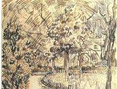"""فان جوخ يرسم """"حديقة عامة""""..  لوحة تعود لـ 1888"""