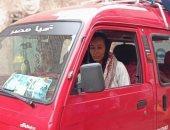 مروة العبد فتاة التروسيكل تفسح أطفال القرنة بالمجان بسيارتها.. صور