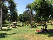 المواطنون يواصلون الاحتفال بعيد الأضحى فى حدائق القناطر الخيرية.. صور