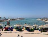 إقبال على شواطئ الغردقة فى ثالث أيام عيد الأضحى المبارك.. فيديو وصور