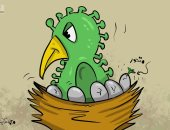 سلالات كورونا تتكاثر وتحير العالم مرة أخرى فى كاريكاتير كويتى