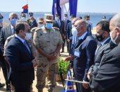 الرئيس السيسى يتفقد أعمال تطوير المحاور والطرق الجديدة بالإسكندرية
