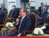 الرئيس السيسى: محاور التنمية الجديدة قادرة على استيعاب الحركة لمدة 20 عاما