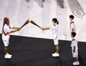 نعومى أوساكا تشعل الشعلة الأولمبية فى حفل افتتاح أولمبياد طوكيو2020
