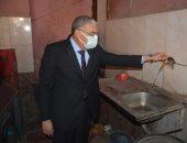 محافظ المنيا يتابع أعمال إصلاح ماسورة مياه بحى الأخصاص.. صور