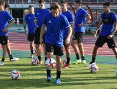 منتخب الأرجنتين الأولمبي يختتم استعداداته لمواجهة مصر غدا.. صور