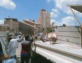 رفع 311 حالة إشغال طريق مخالفة بمركزى دمنهور وأبو حمص.. صور