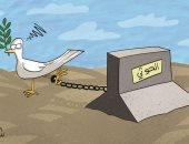""""""" الحوثيين"""" تعيق عملية السلام فى اليمن فى كاريكاتير إماراتى"""