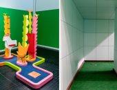 """""""الإعادة بامتياز"""".. ملعب جولف مصغر في متحف إلمهرست للفنون..ألبوم صور"""